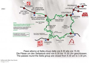Het parcours van de Sella Ronda